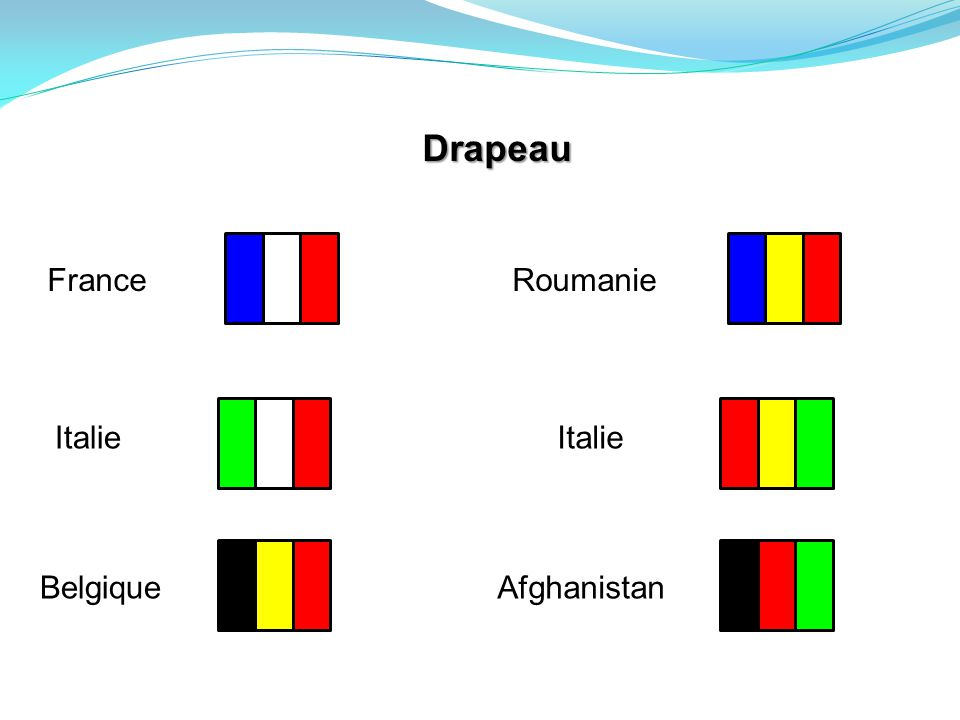 Drapeau France Roumanie Italie Italie Belgique Afghanistan