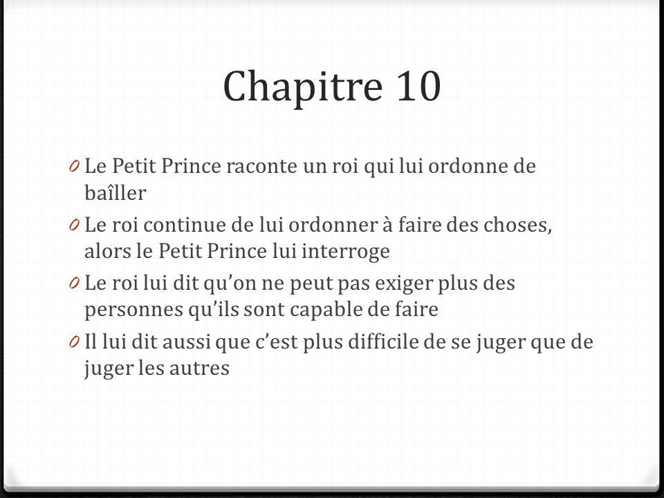 le petit prince resume par chapitres