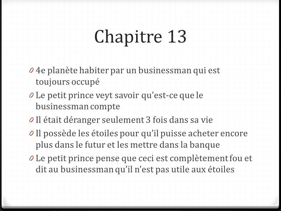Resume le petit prince chapitre 1
