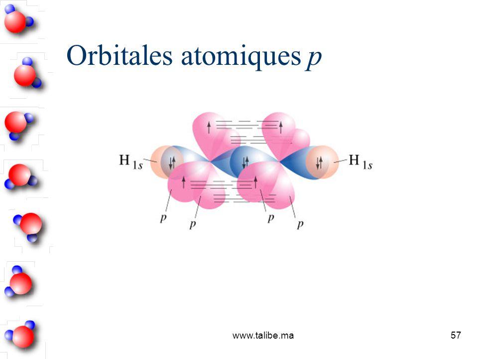 Orbitales atomiques p www.talibe.ma