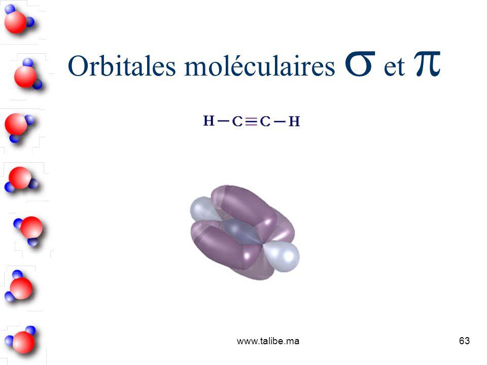 Orbitales moléculaires  et p