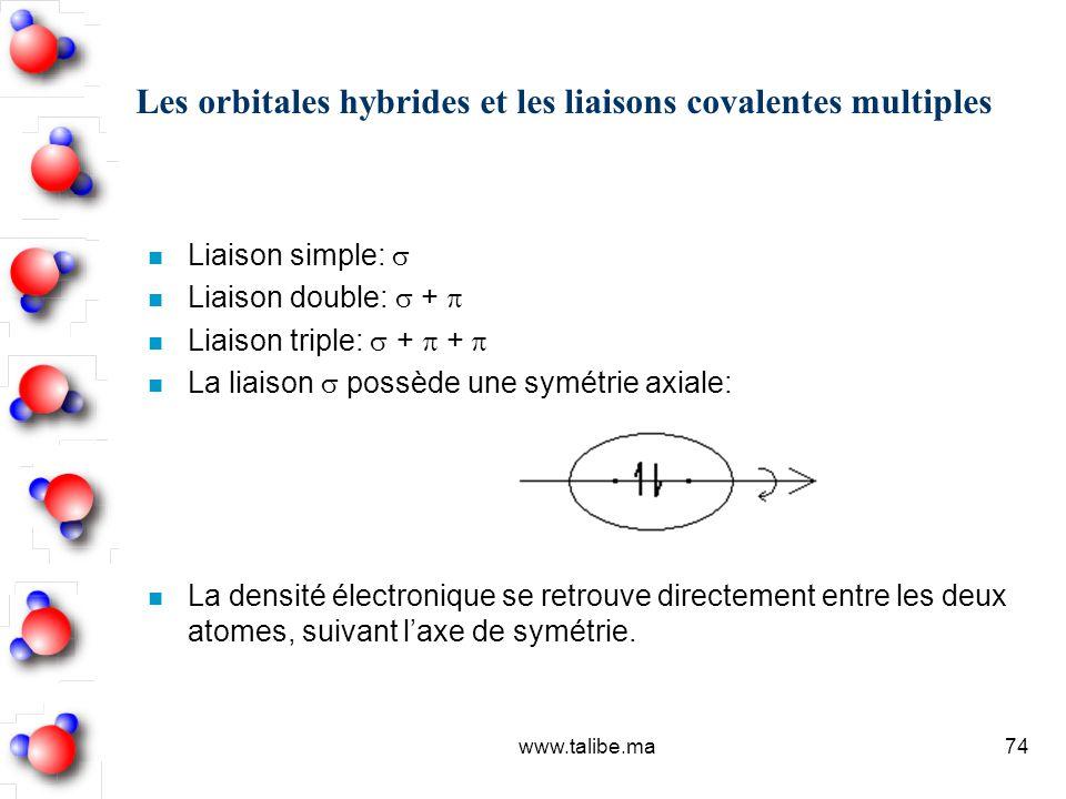 Les orbitales hybrides et les liaisons covalentes multiples