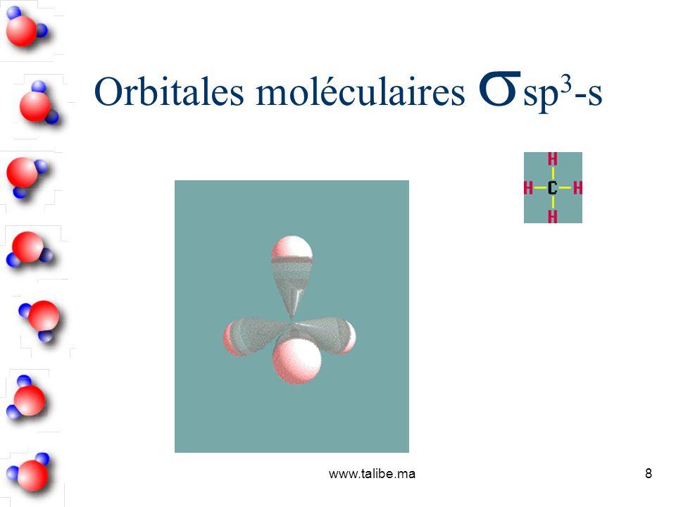 Orbitales moléculaires sp3-s