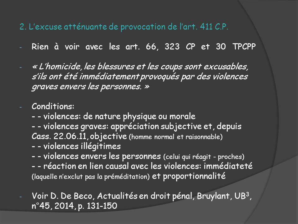 Les causes d excuses en droit penal ppt video online - Coups et blessures volontaires code penal ...