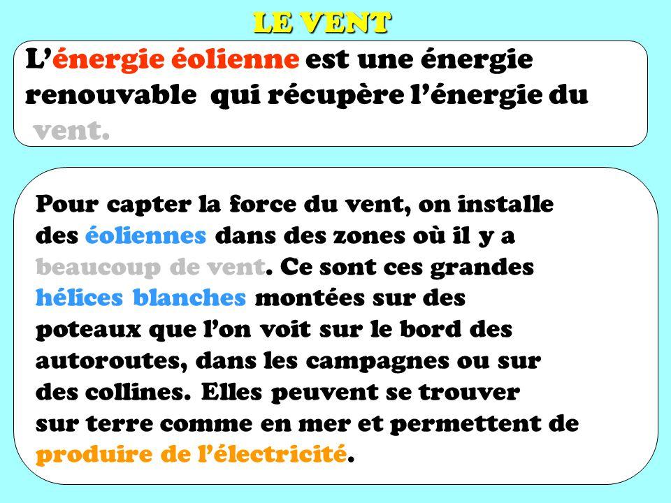 L'énergie éolienne est une énergie