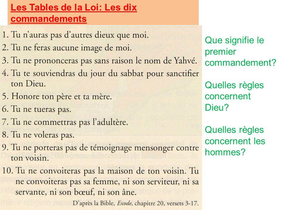 Chapitre d histoire les d buts du juda sme ppt t l charger - Les tables des 10 commandements ...