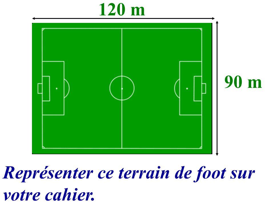 120 m 90 m Représenter ce terrain de foot sur votre cahier.