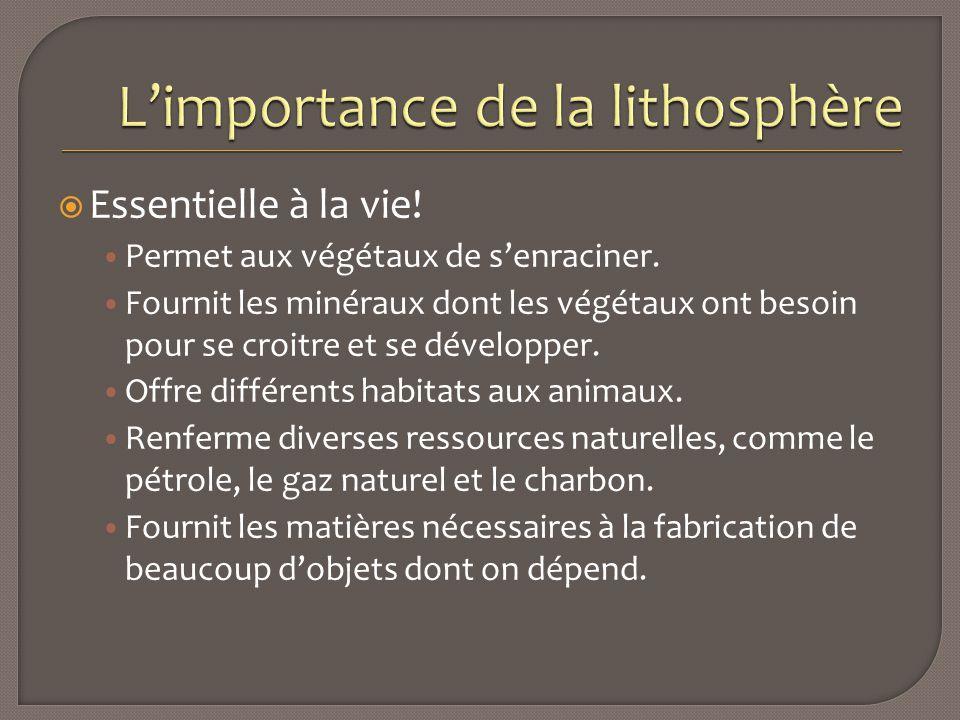 L'importance de la lithosphère