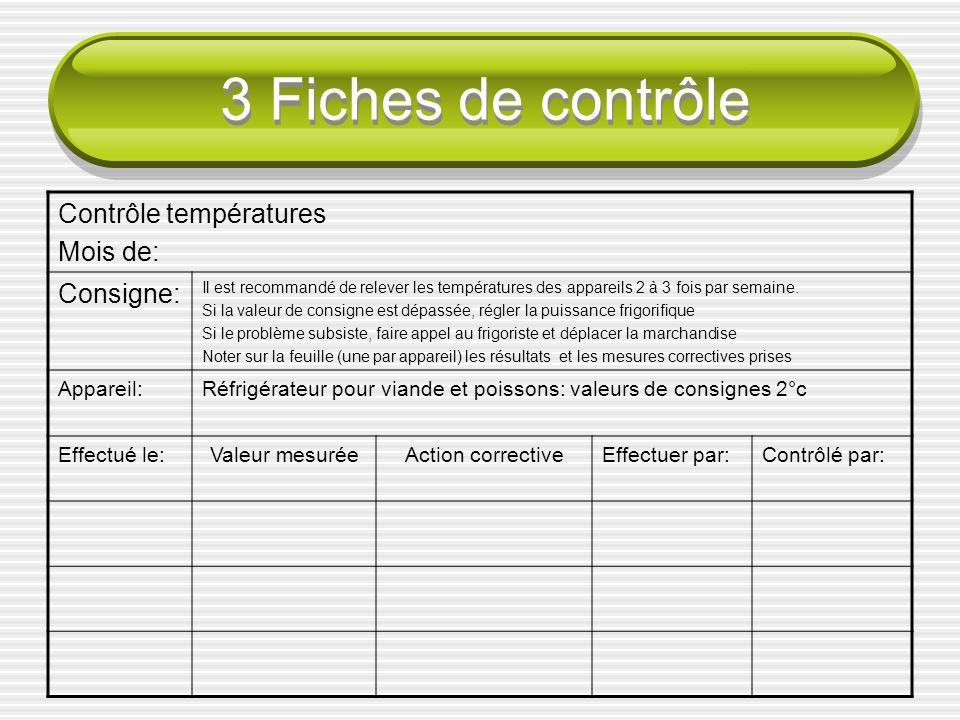 Control contr le point point ppt video online t l charger for Service veterinaire cuisine