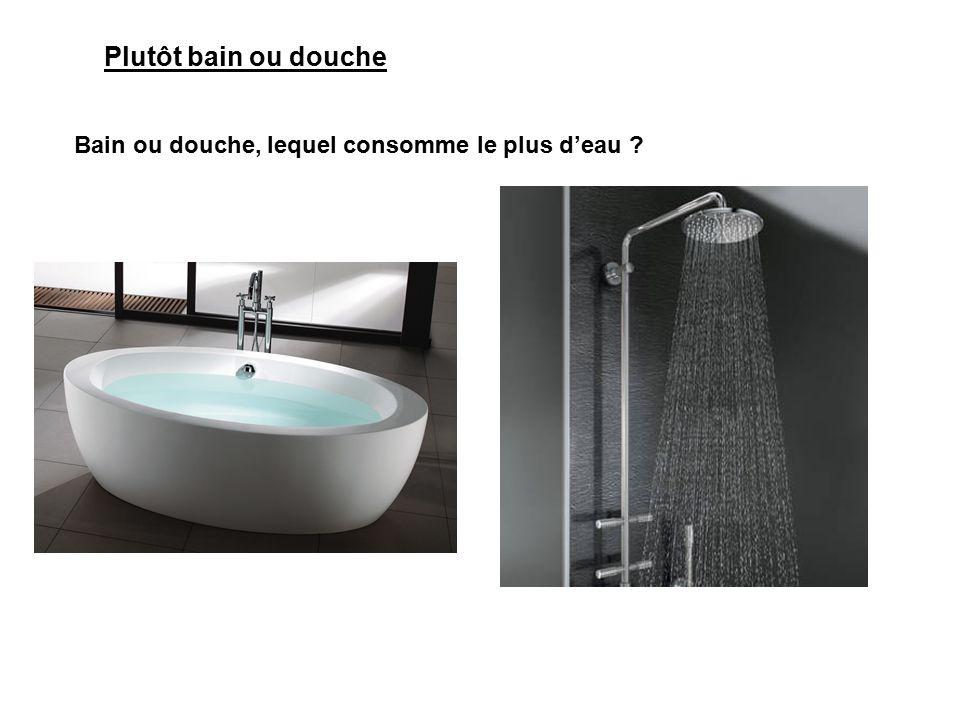 La consommation d 39 eau ppt video online t l charger - Combien d eau consomme une douche ...