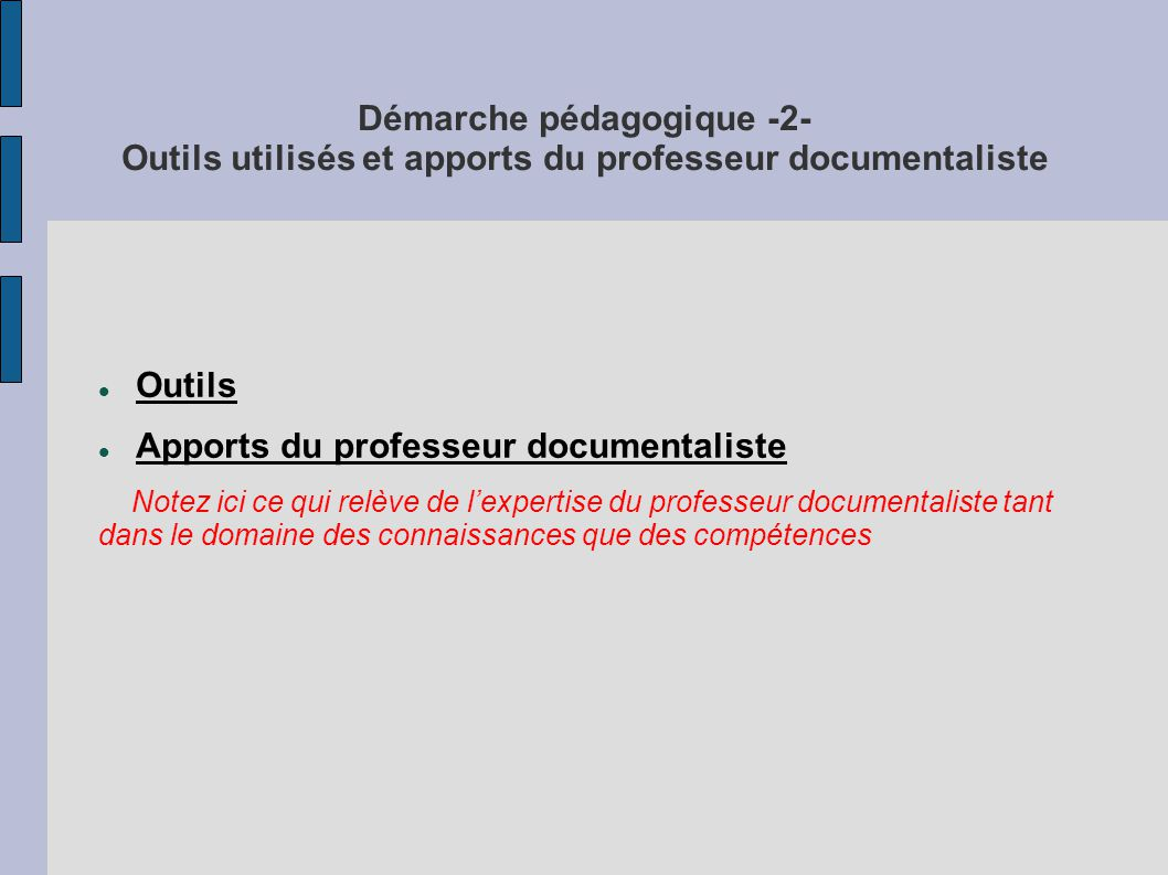 Apports du professeur documentaliste