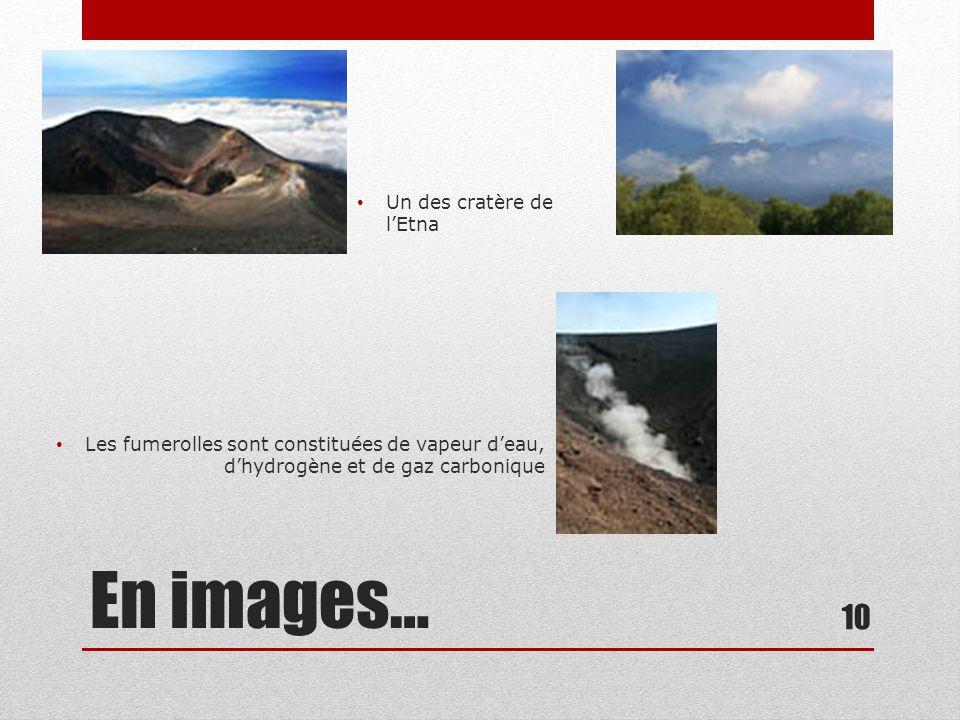 En images… Un des cratère de l'Etna