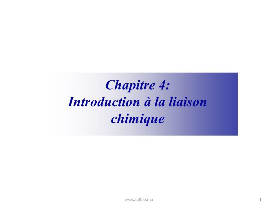 Introduction à la liaison chimique