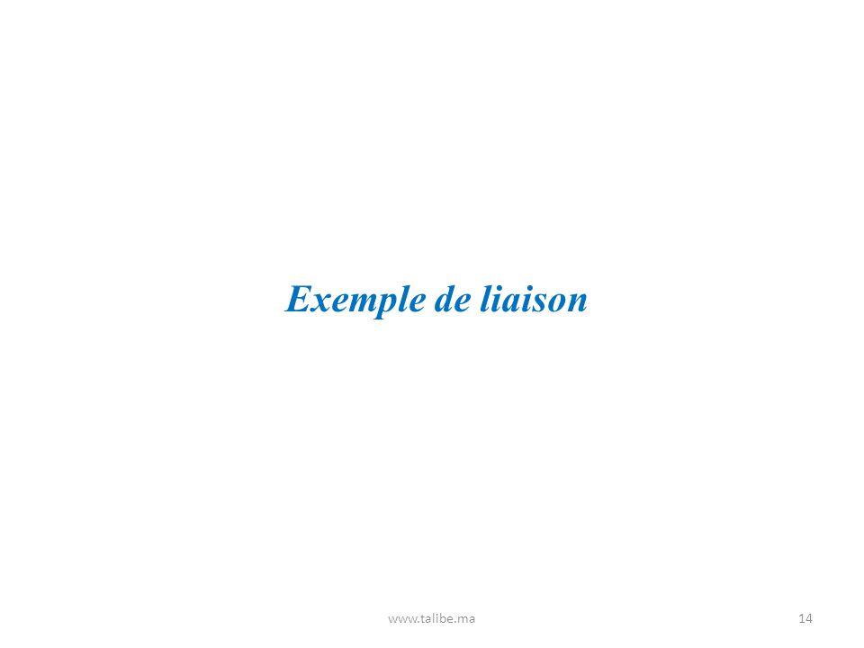 Exemple de liaison www.talibe.ma