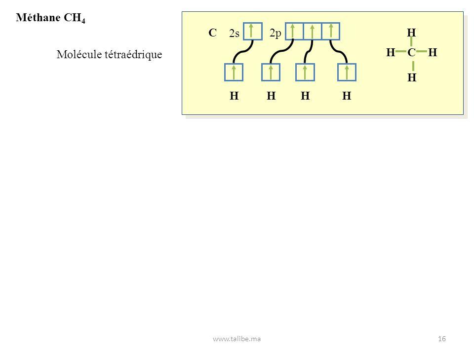 Molécule tétraédrique