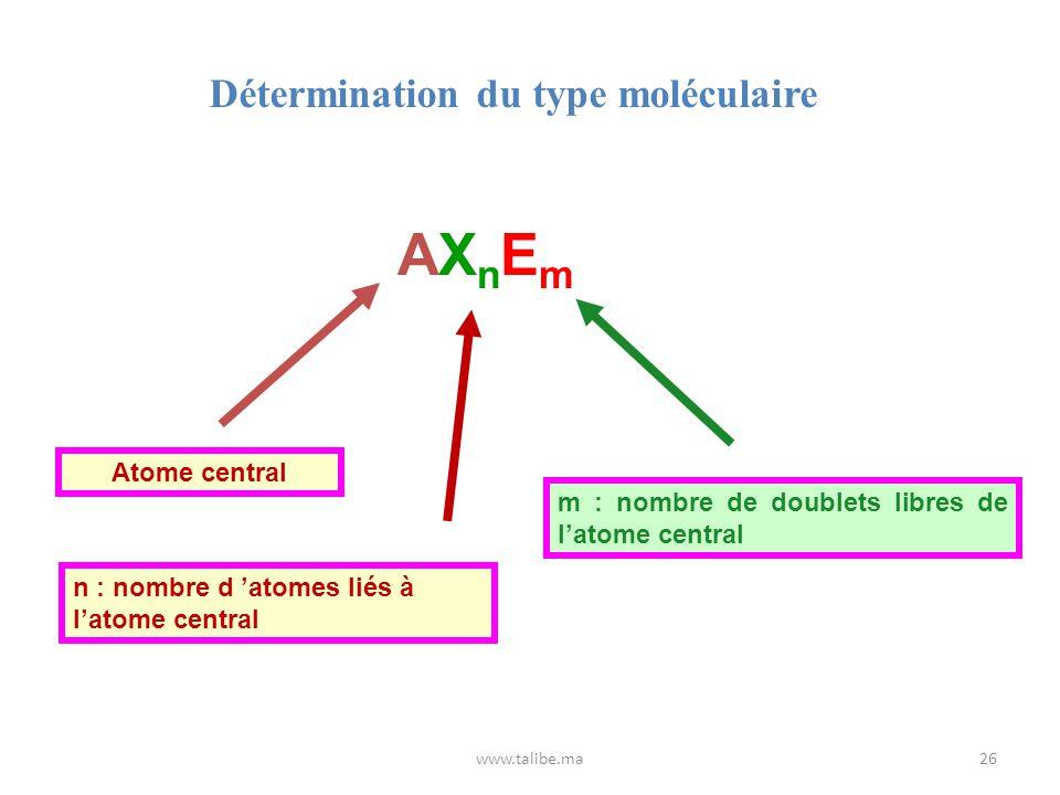 Détermination du type moléculaire