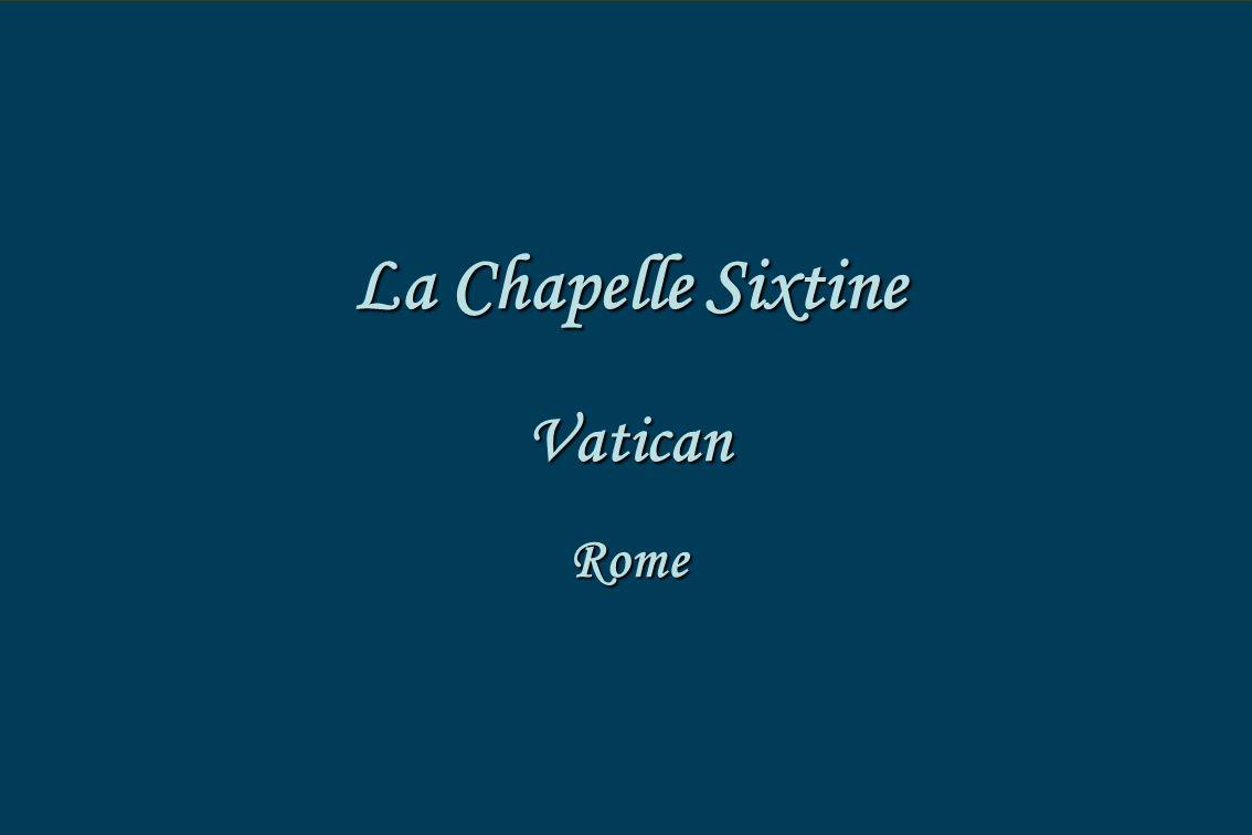 La chapelle sixtine vatican rome la chapelle sixtine - Fresque du plafond de la chapelle sixtine ...