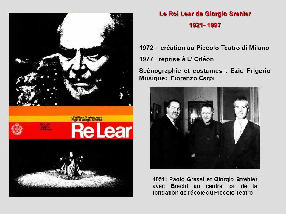 Le Roi Lear de Giorgio Srehler