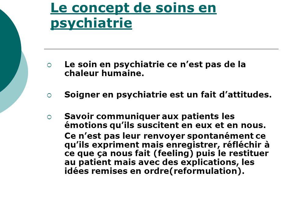 Le concept de soins en psychiatrie
