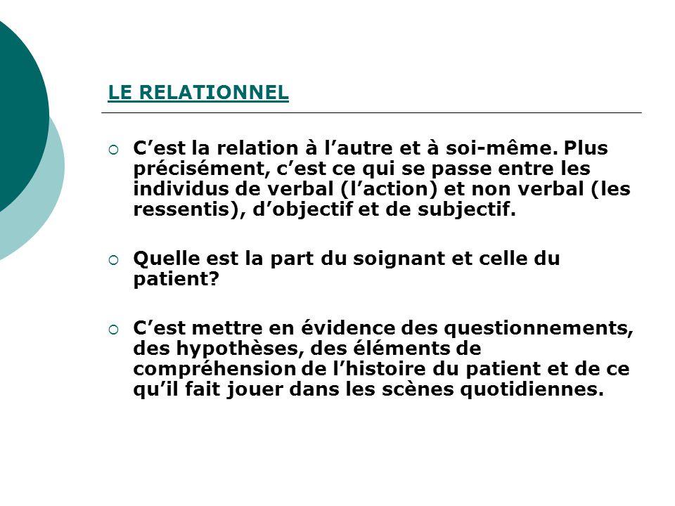 LE RELATIONNEL