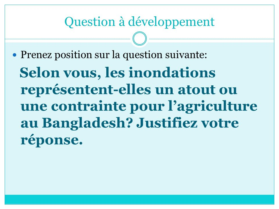 Question à développement