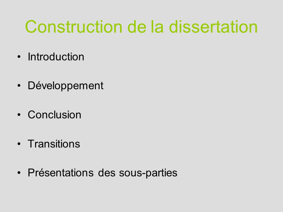 introduction dune dissertation de philo