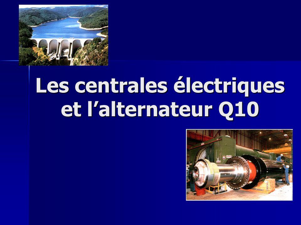 Les centrales électriques et l'alternateur Q10
