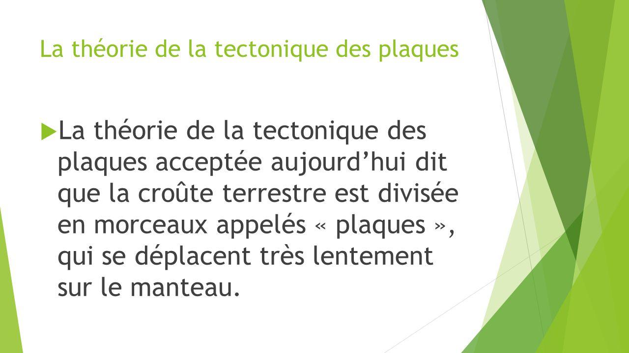 La théorie de la tectonique des plaques