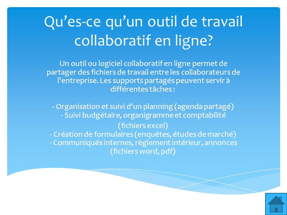 Les outils collaboratifs en ligne pour une entreprise for Reglement interieur entreprise pdf