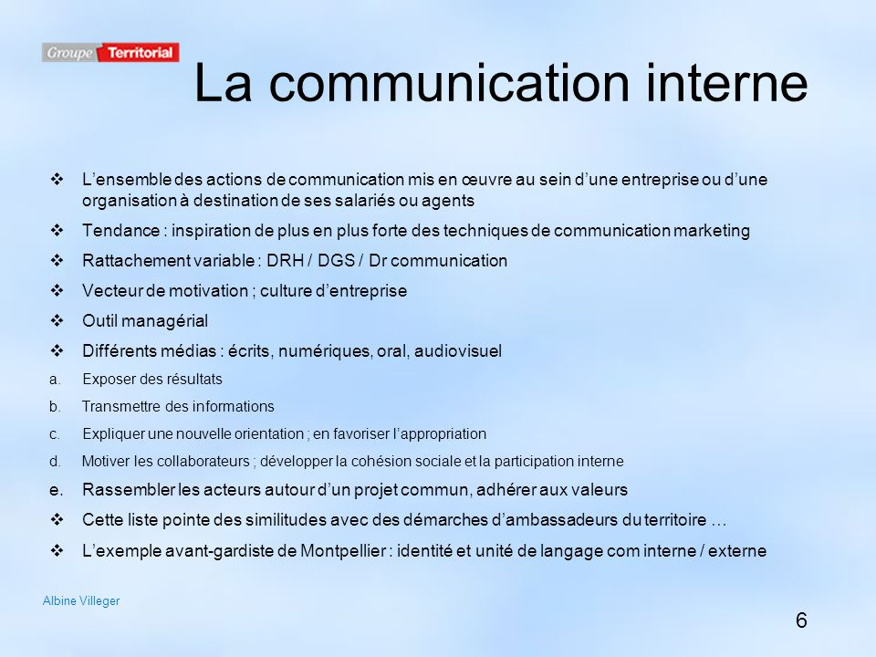 Célèbre Le marketing au service de la communication interne des villes  TO53