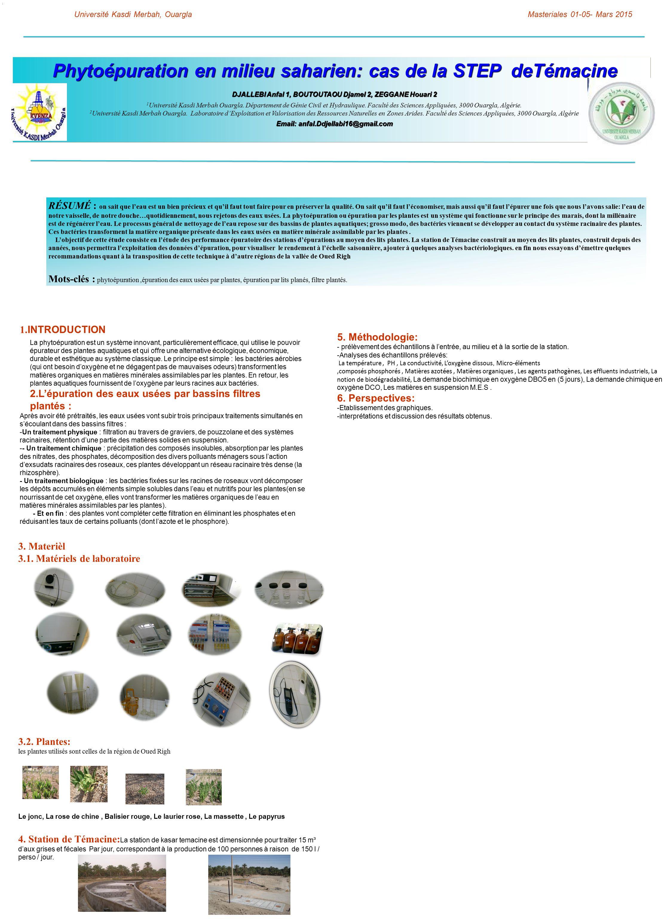 phyto puration en milieu saharien cas de la step det macine ppt t l charger. Black Bedroom Furniture Sets. Home Design Ideas