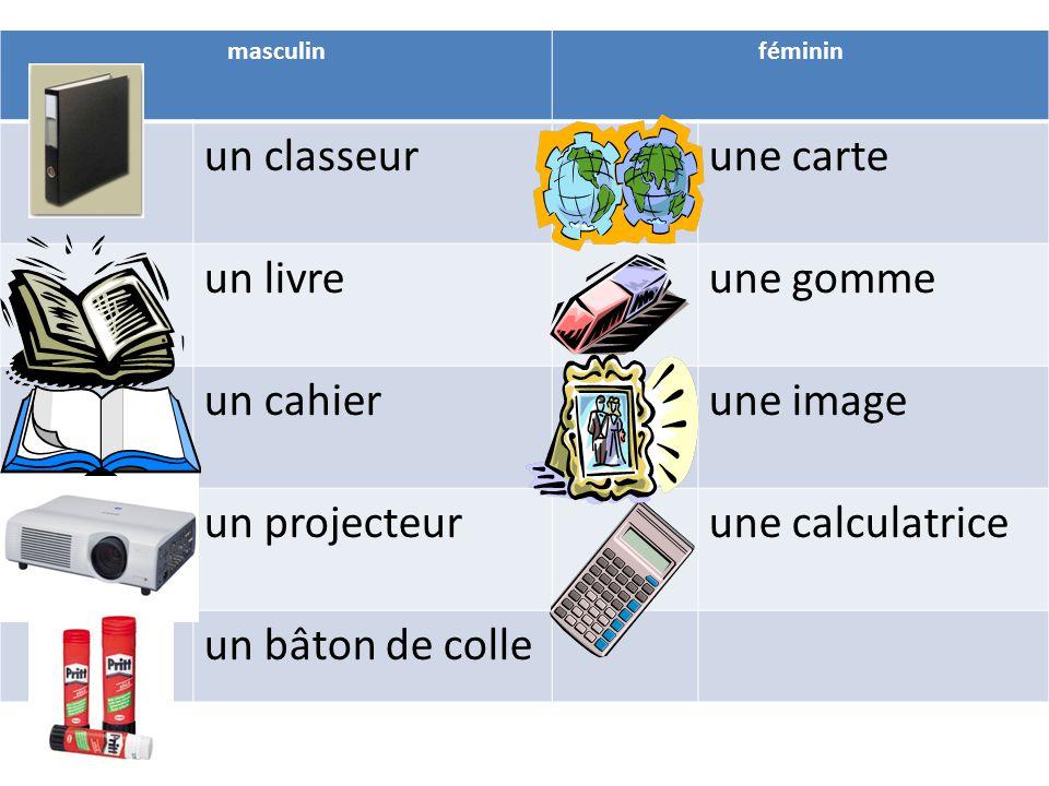 Resultado de imagen para vocabulaire de la salle de classe