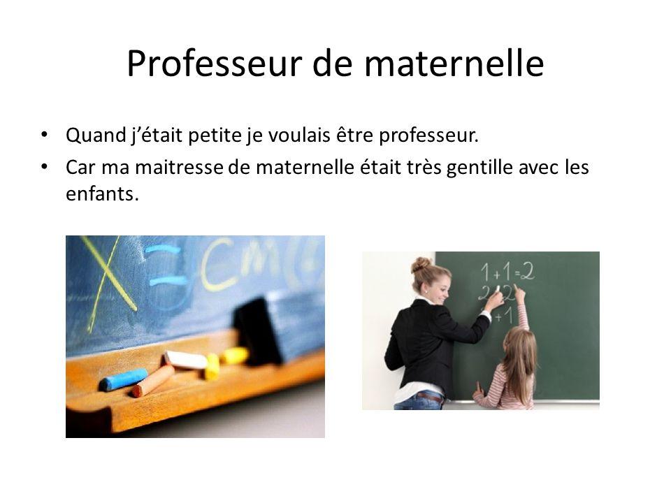 Professeur de maternelle
