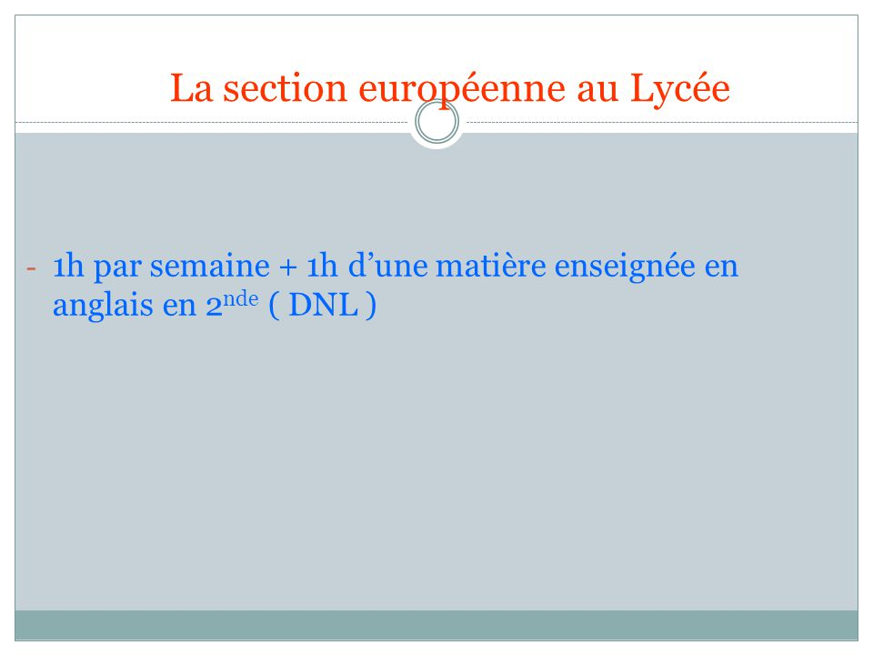 la section europ u00e9enne  anglais  lv1