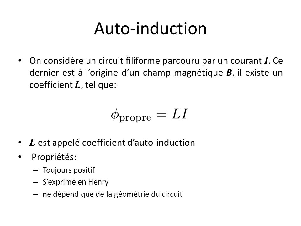 Auto-induction