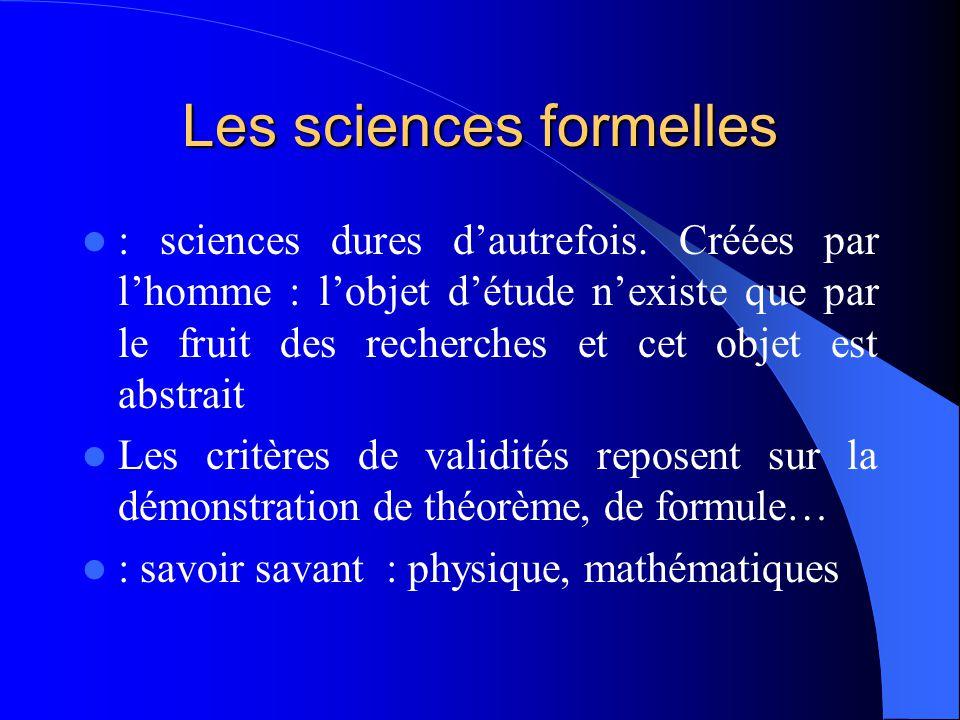 Les sciences formelles