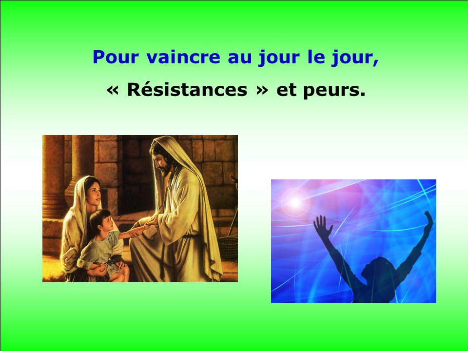 Pour vaincre au jour le jour, « Résistances » et peurs.