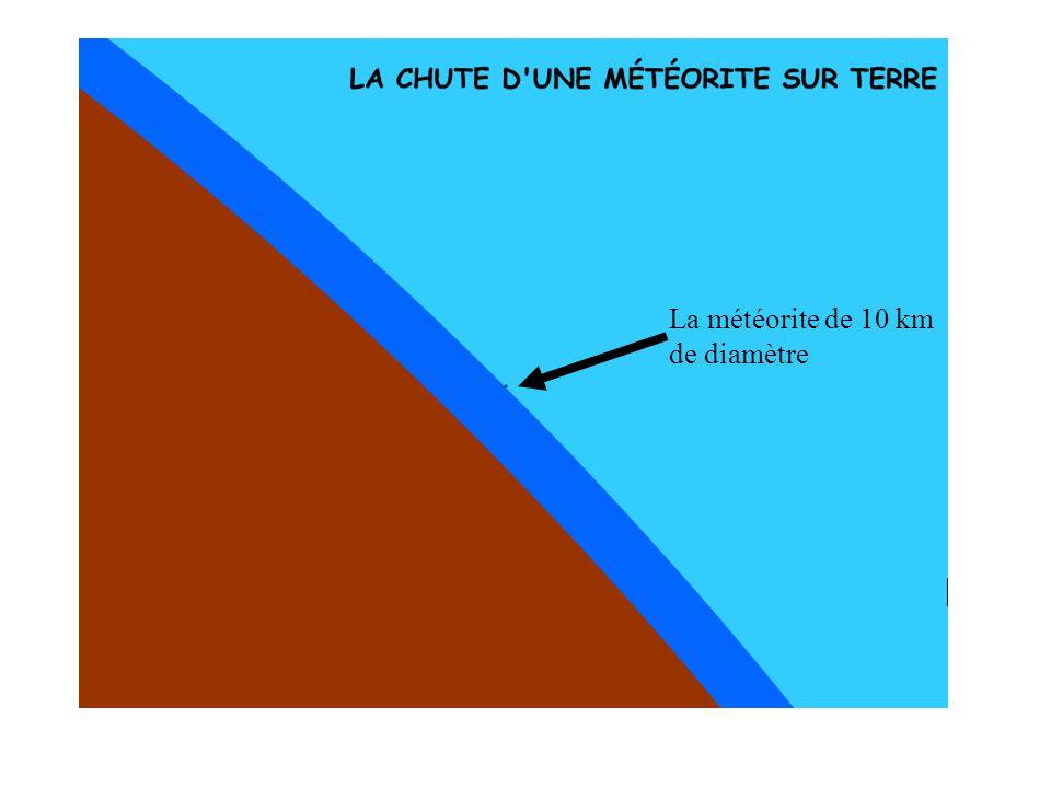 La météorite de 10 km de diamètre