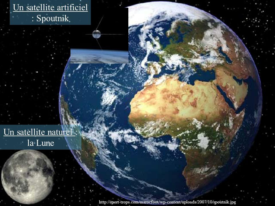 Un satellite artificiel : Spoutnik