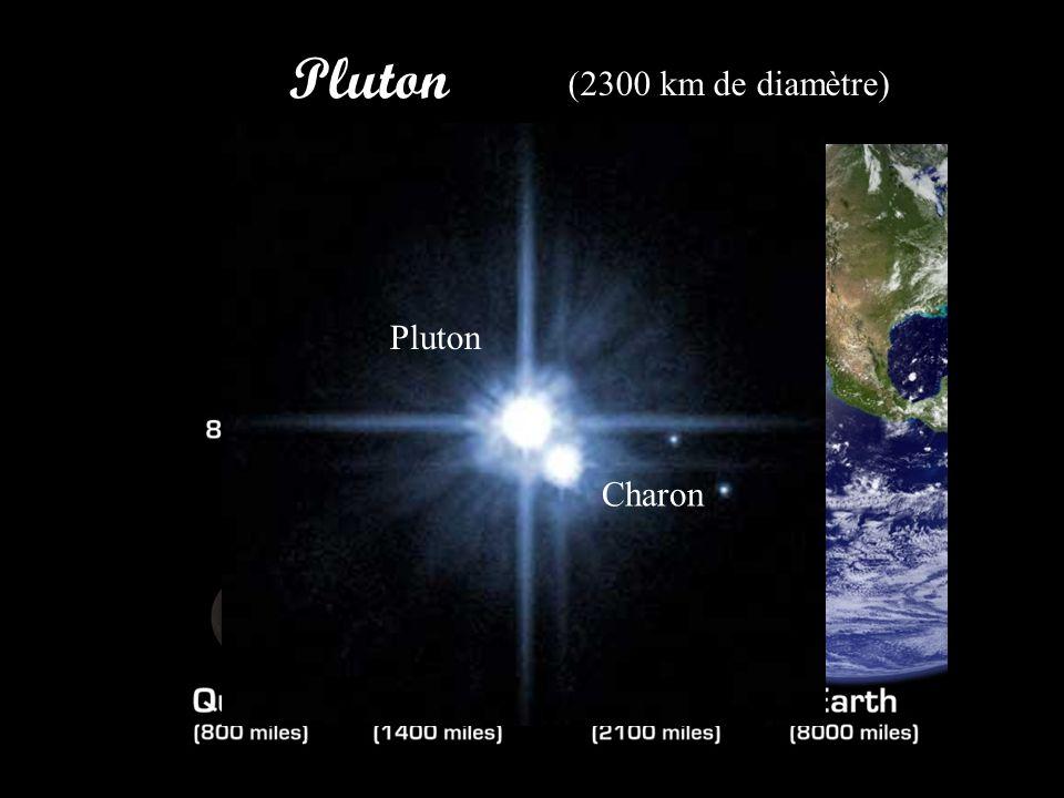 Pluton (2300 km de diamètre) Pluton Charon