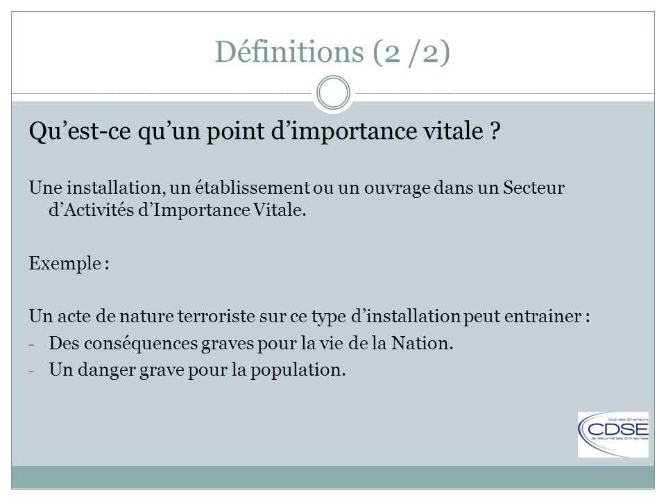 La S Curit Des Activit S D Importance Vitale Ppt Video