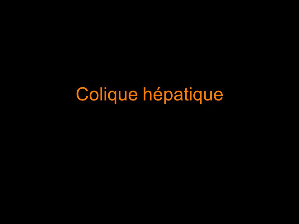 Colique hépatique