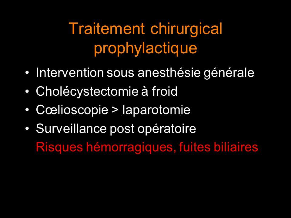 Traitement chirurgical prophylactique