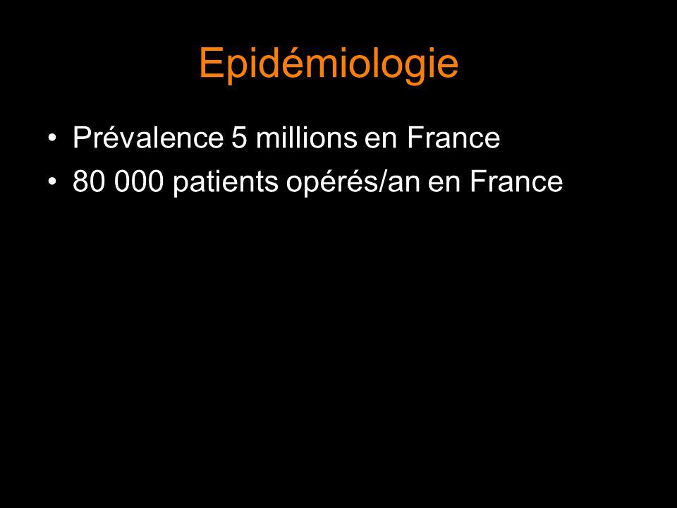 Epidémiologie Prévalence 5 millions en France