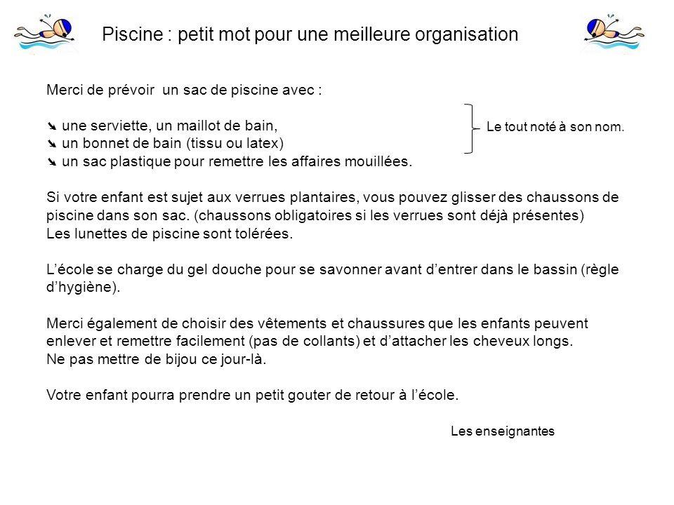 Piscine petit mot pour une meilleure organisation ppt for Chausson pour piscine