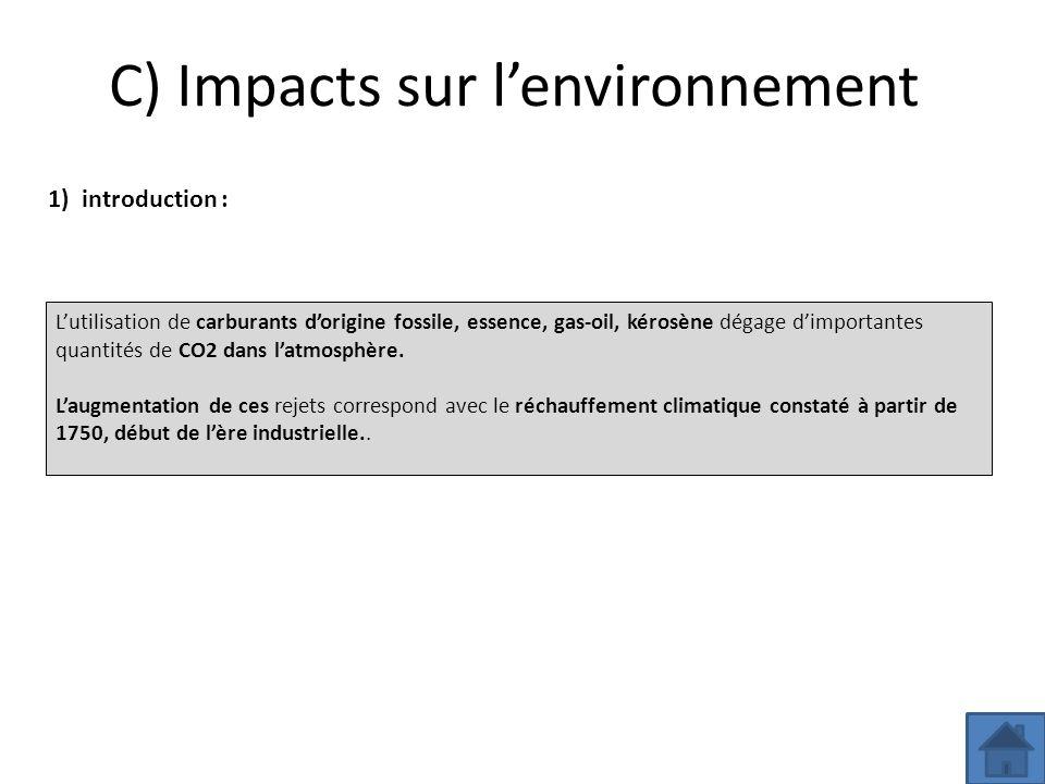 C) Impacts sur l'environnement