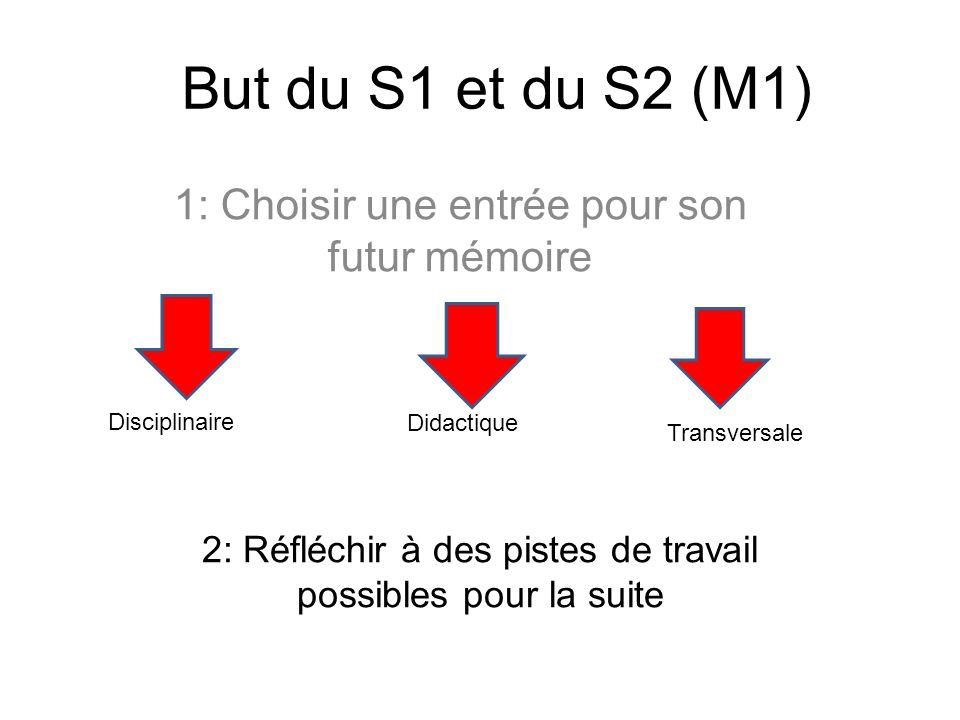 1: Choisir une entrée pour son futur mémoire