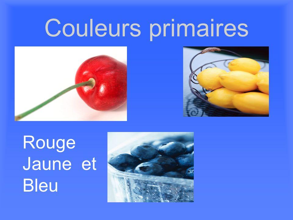 Couleurs primaires Rouge Jaune et Bleu