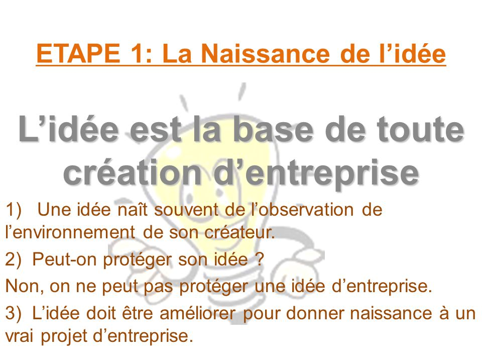 Cr er une entreprise ppt video online t l charger for Idee creation entreprise service