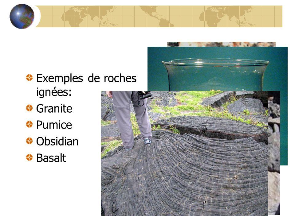 Exemples de roches ignées: